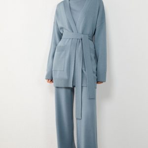 Minimalist Loose Knitted Three-Piece Suit