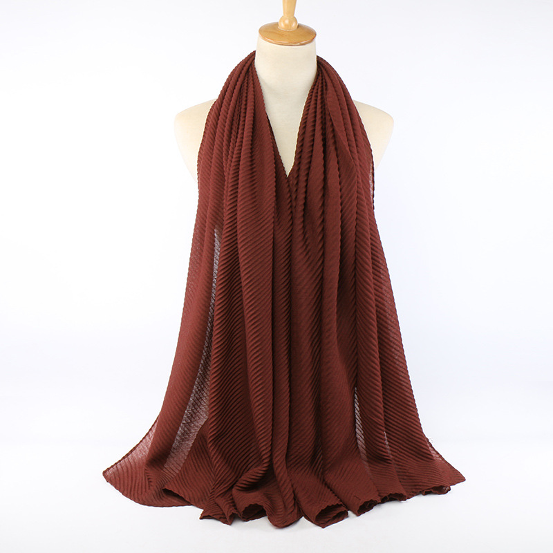 Pleated Viscose Cotton Hijab