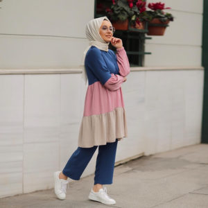 Turkish Style Pants and Blouse Two Piece Set