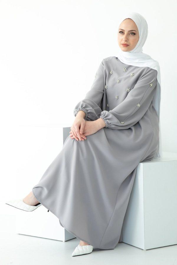 Beaded Kaftan Abaya Dress