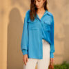 Classic Loose-Fit Button Down Blouse