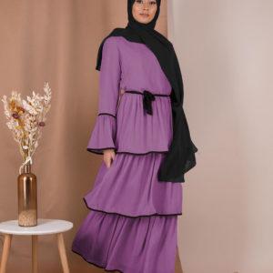 Layered Ruffle Summer Dress 1 Featured Purple