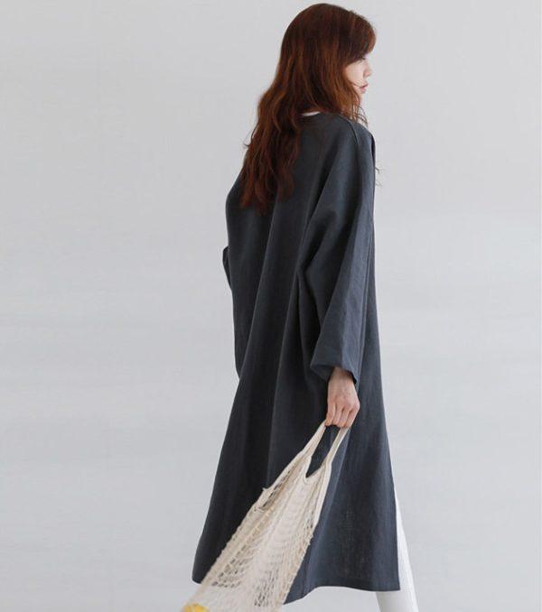 Modest Linen Kimono Cardigan