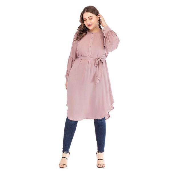 Plus Size Pearl Long Sleeve Tunic