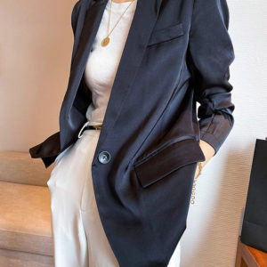 Silky Classic Fit Blazer Jacket 4 Featured