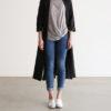 Lapel Neck Long Sleeve Linen Jacket