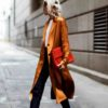 Soft and Silky Lapel Neck Long Sleeve Jacket