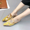 Embroidered Slip On Flat Shoes