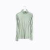 Long Sleeve Silky Turtleneck Blouse
