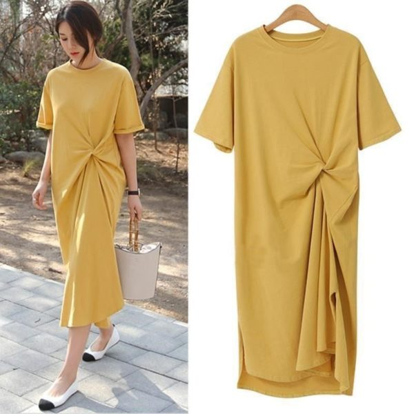 Casual Long Midi T-Shirt Dress