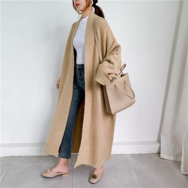 Solid Oversized Sweater Coat