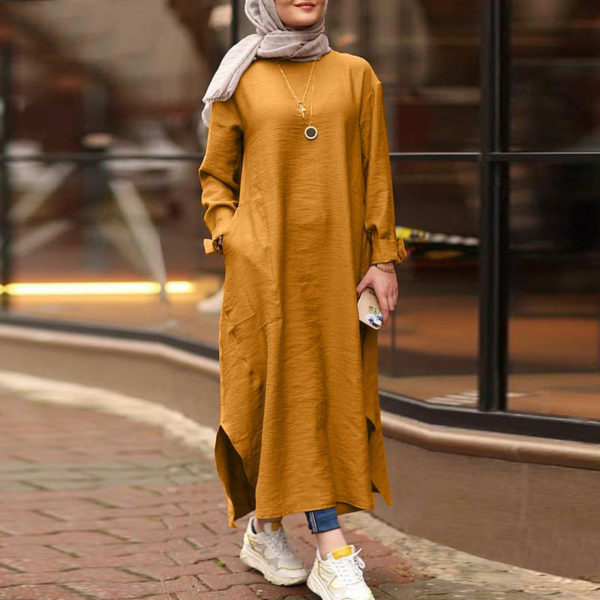 Modest Turkish Style Long Tunic Top