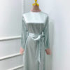 Vintage Lace Beaded Modest Maxi Dress