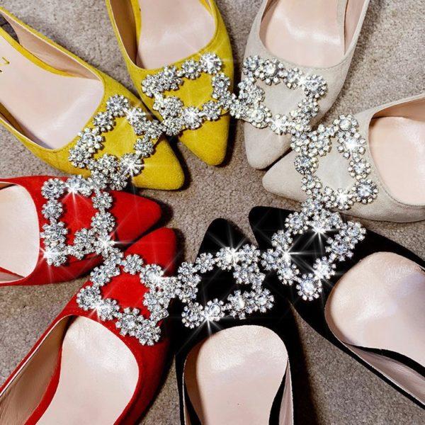 Rhinestone High Heels Shoes