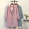 Plus Size Pastel Trench Coat