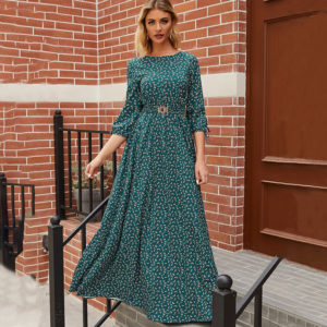 Boho Maxi Floral Dress 3 Featured
