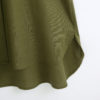 Green Single Pocket Long Sleeve Shirt Dress
