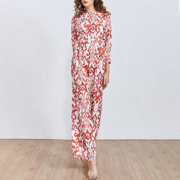 Brocade Straight Leg Jumpsuit