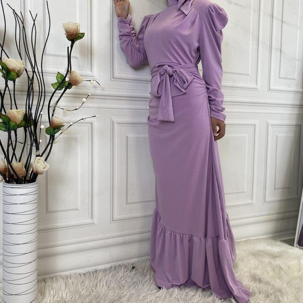Long Sleeve Ruffled Maxi Party Dress