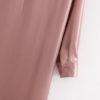 Pink Satin Midi Shirt Dress