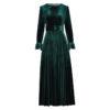 Elegant Pleated Velvet Dress