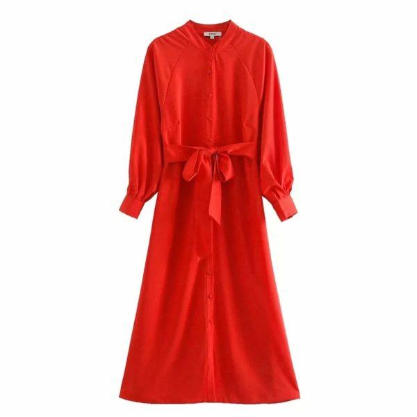 Red Summer Midi Dress