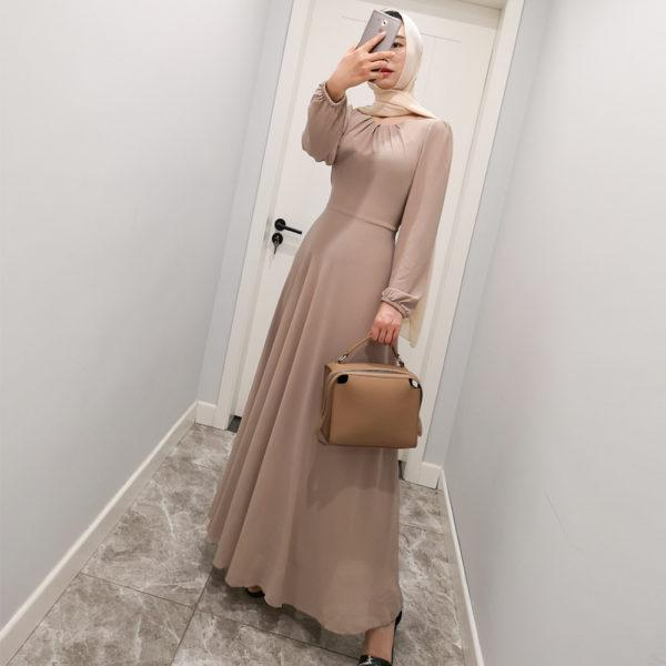 Chiffon Long Sleeve Gown
