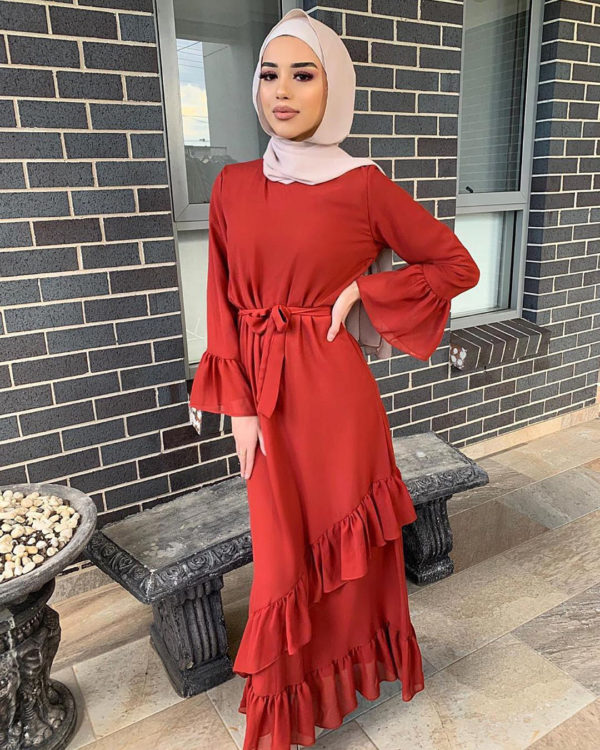 Classic Layered Ruffled Dress