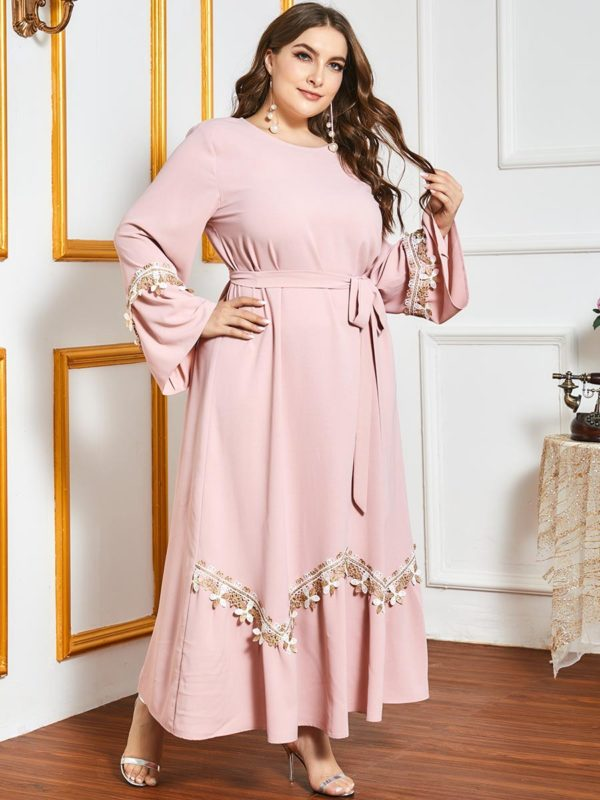 Plus Size Elegant A-Line Maxi Dress