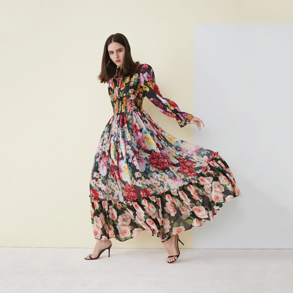 Wild Floral Maxi Dress