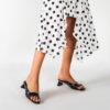Low Heel Slip-On Mule Sandals