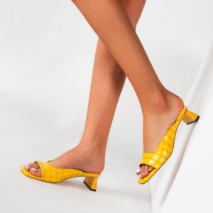 Low Heel Mule Slip On Sandals 7