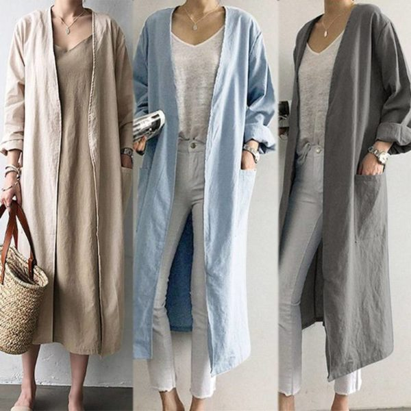 Longline Linen Cardigan