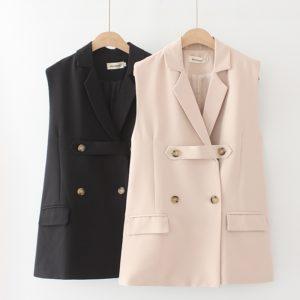 Plus Size Sleeveless Blazer Vest 3 Main