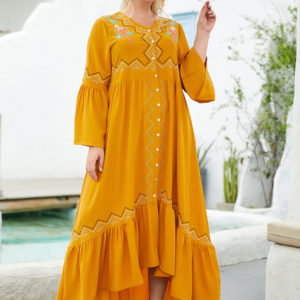 Button Front Swing Dress 3