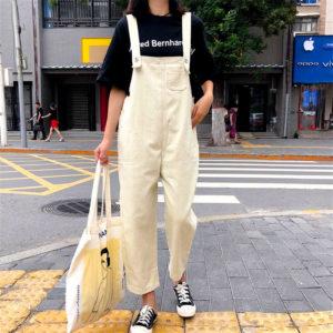 Sleeveless Vintage Jumpsuit 1 Beige Main