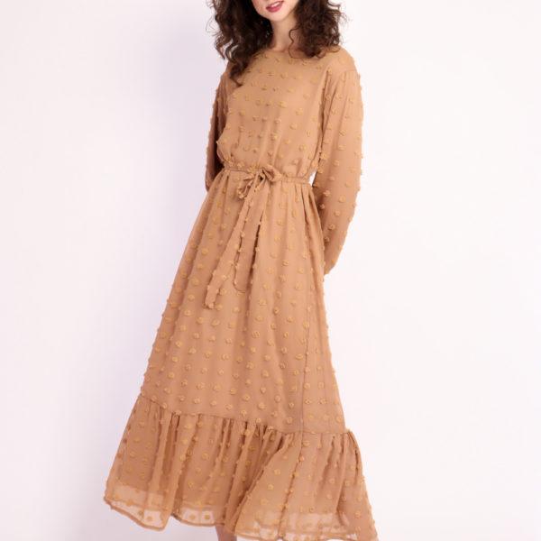 Boho Long Sleeve Pom Pom Maxi Dress 3