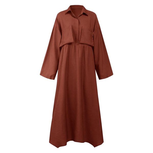 Retro Modest Ankle Length Dress
