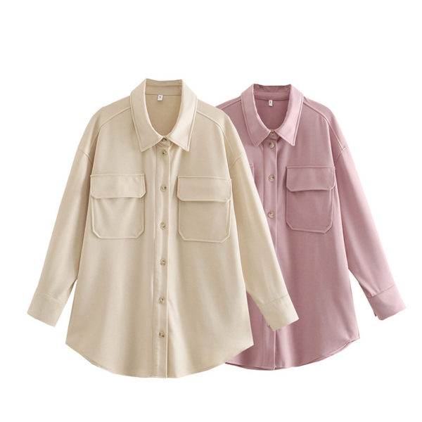 Classic Flap Pocket Button Up Blouse 5 Featured