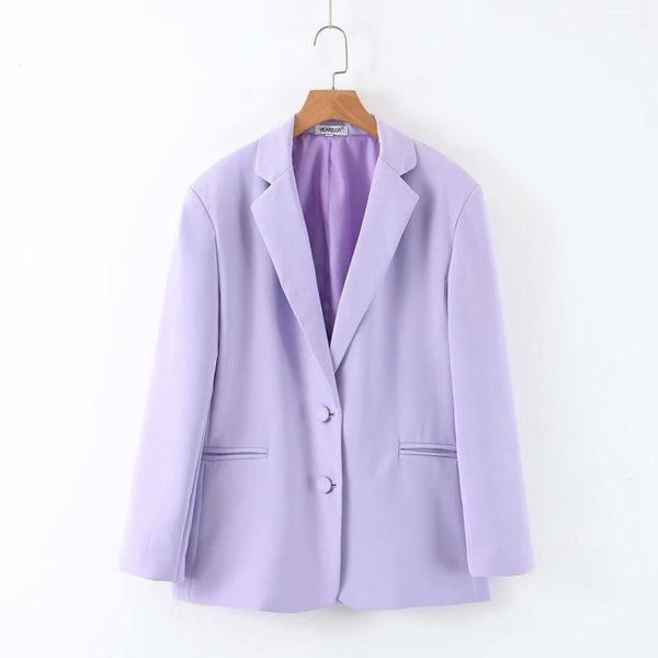 Classic Lilac Two Button Blazer 5