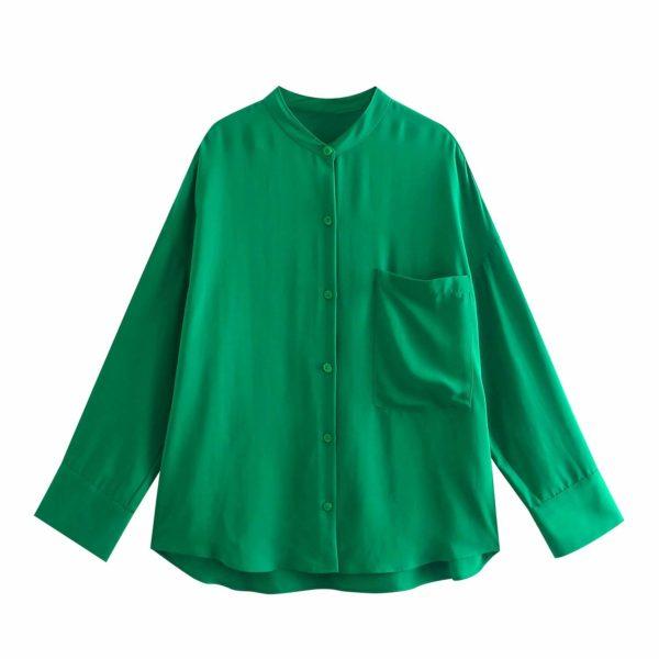 Evergreen Long Sleeve Button Up Blouse