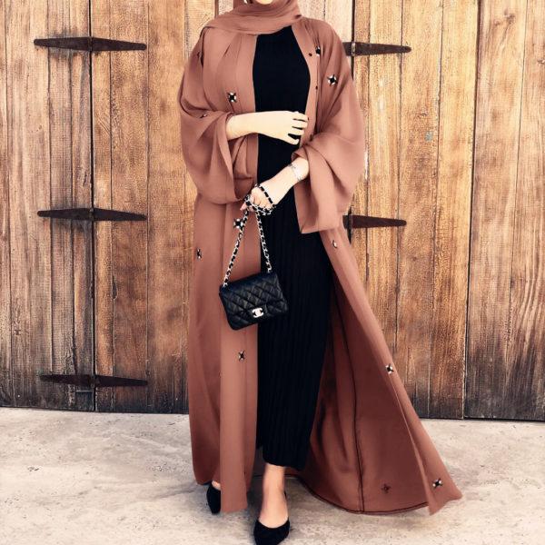 Modest Open Front Abaya 5