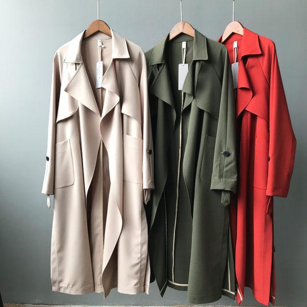 Open Front Belted Coat