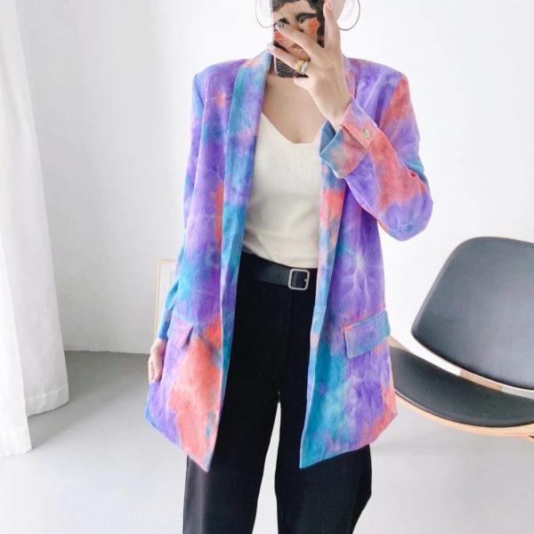 Tie Dye Blazer Purple